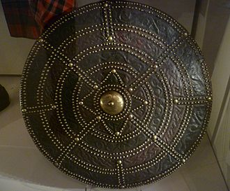 Targe - A Highland targe exhibited in the National Museum of Scotland
