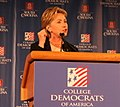 Hillary Clinton Speaks to College Democrats (cropped).jpg