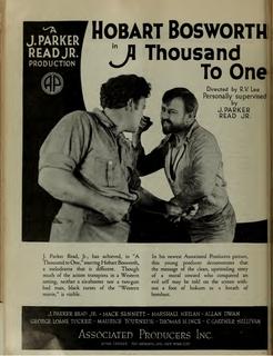 <i>A Thousand to One</i> 1920 film by Rowland V. Lee