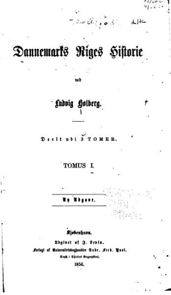 File:Holberg Danmark Riges Historie 1 Tomus.djvu