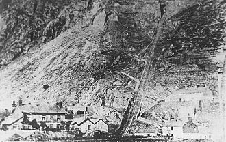 Oakeley Quarry - The 1839 incline connecting Holland's Quarry with the Festiniog Railway at Dinas