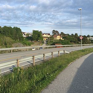 Holte (Kristiansand) - View of Holte with Fidjeåsen