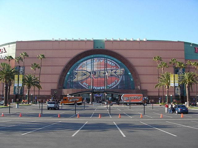 Honda Center Exterior by Arnold C Buchanan-Hermit Licensed under Attribution via Wikimedia Commons