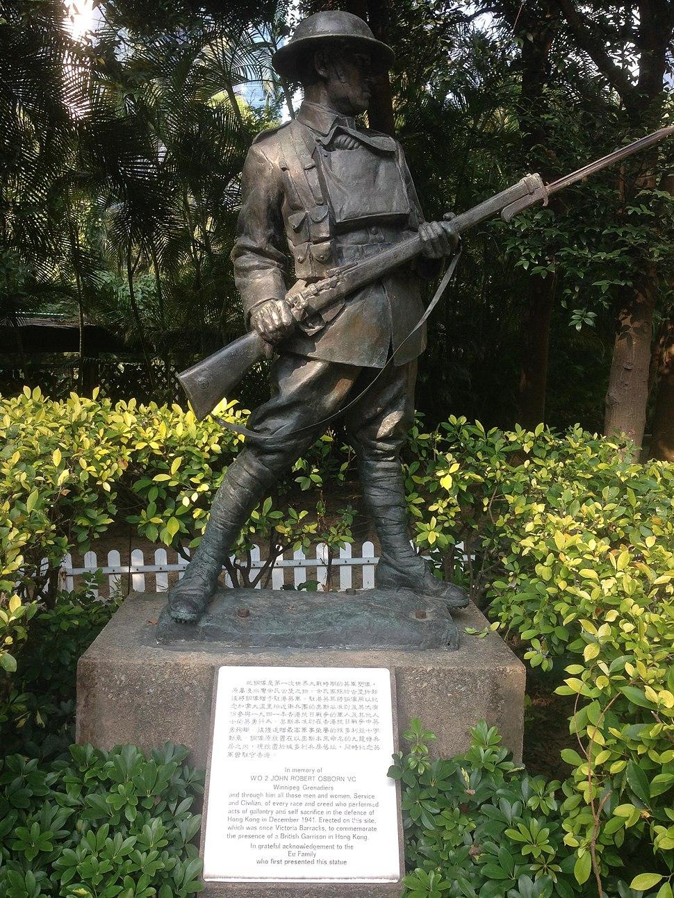 Hong Kong Park statue