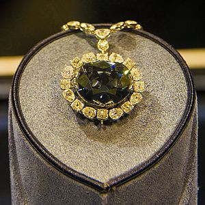 Hope Diamond in the Smithsonian Museum of Natural History, Washington DC.