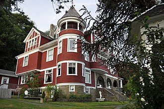 Hoquiam, Washington - Hoquiam's Castle, listed on the National Register of Historic Places.