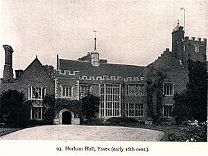 Horham Hall - Photograph of Horham Hall from The Growth of the English House by John Alfred Gotch, 1909