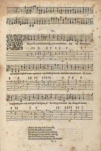 Thomas Campion - A Book of Ayres, 1601, with words by Campion and music by Philip Rosseter
