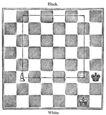 Fig. 14.[Black to Move and Draw.]