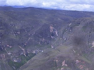 Huancas District - Beautiful waterfalls from one of the many viewpoints in Huancas.
