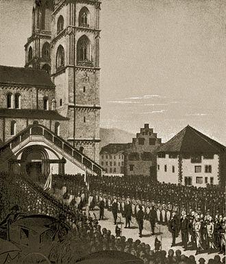 Tagsatzung - Tagsatzung of 1807 at Grossmünster in Zürich