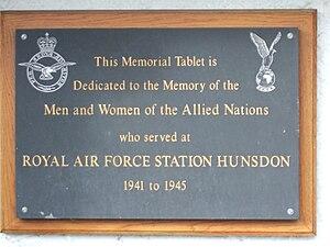 Hunsdon - Memorial tablet on Hunsdon Village Hall