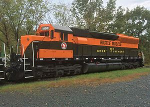 Great Northern Railway (U.S.) - Great Northern 400, a preserved EMD SD45.