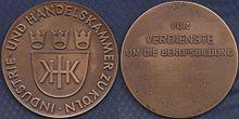 IHK Köln Medaille 1986 Berufsausbildung