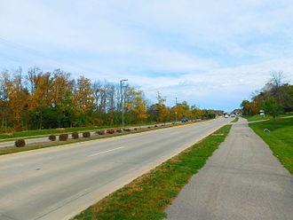 Illinois Route 22 - IL 22 in Bannockburn