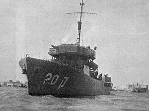 Israeli naval campaign in Operation Yoav - Image: INS Haganah