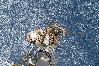 Gennady Padalka - Gennady Padalka participates in a spacewalk to move the Strela-2 cargo boom from the Pirs docking compartment to the Zarya module in August 2012.