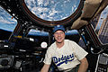 ISS-42 Terry Virts with a baseball in the Cupola.jpg