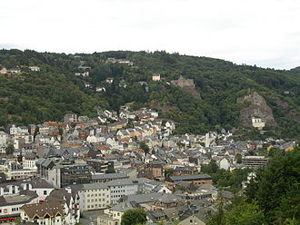 Idar-Oberstein - Panorama of the town