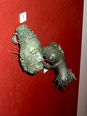 Bronze from the ninth century town of Igbo Ukwu, now at the British Museum. Igbo ukwu bronzes.jpg