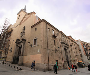 Convento del Carmen Calzado (Madrid) - The Parish church del Carmen is the only remain that survives from the old convent.