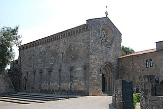 Portuguese Romanesque architecture - São Pedro de Roriz Church like other Romanesque churches, have a strong and heavy appearance.
