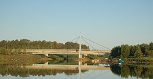 Iijoki - Bridges of Highway 4 across Iijoki.