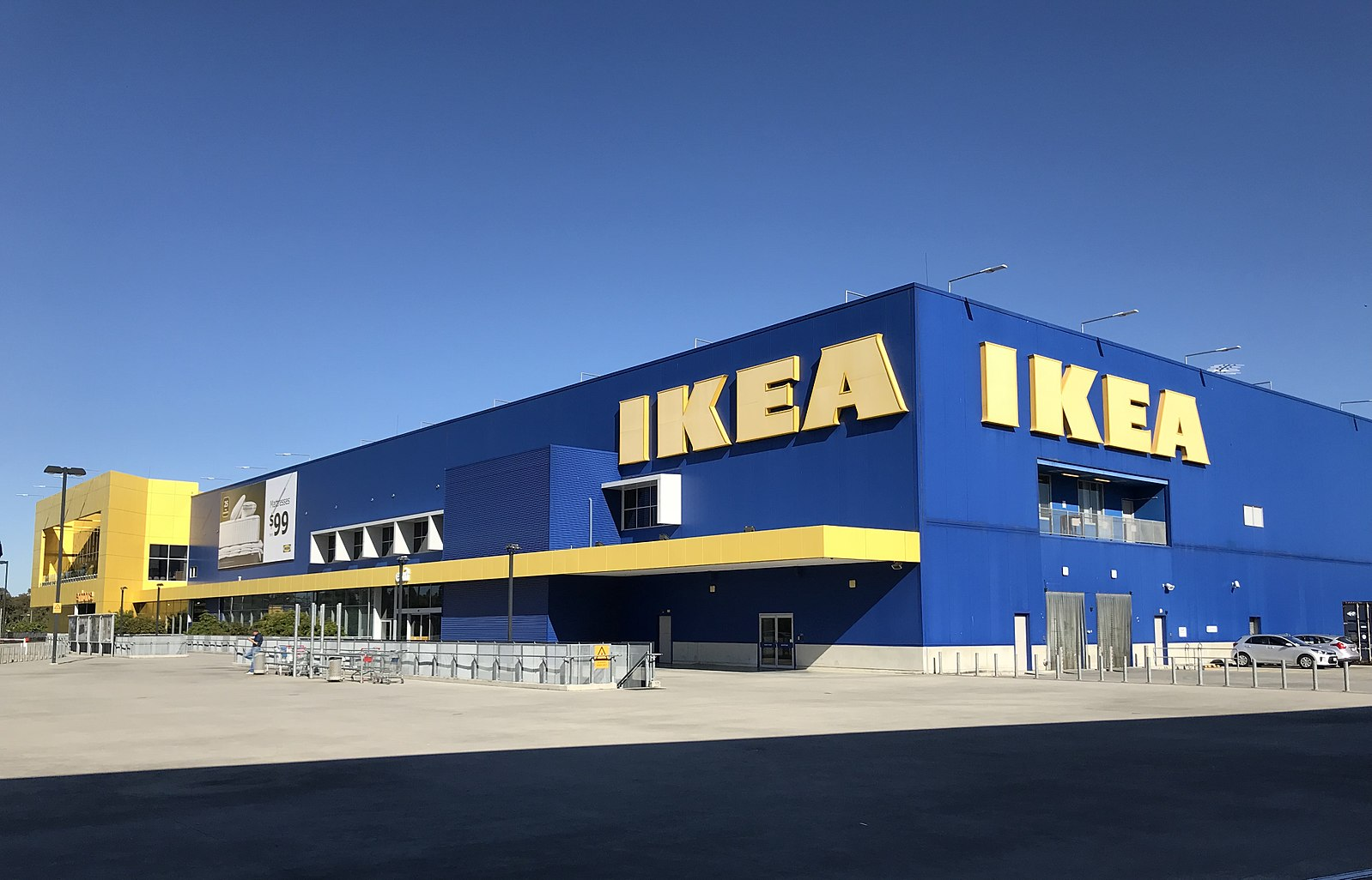 the outside of an Ikea store