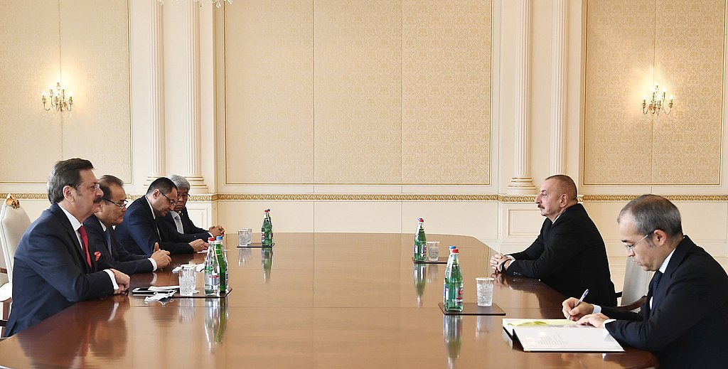 Ilham Aliyev received Baghdad Amreyev, Mustafa Rifat Adham Ikramov, and Marat Sharshekeev1