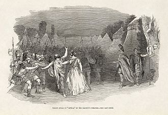 Attila (opera) - Last scene, as performed in London in 1848