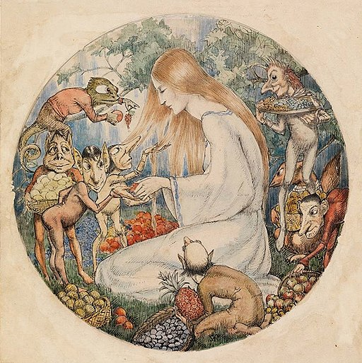 Illustration to Christina Rossetti's Goblin Market by Winifred Knights