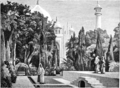 Imperial India — An Artist's Journals - THE GARDEN OF THE TAJ, WITH THE TAJ MAHAL IN THE DISTANCE.png