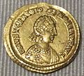 Impero d'occidente, onoria, solido in oro (ravenna), 430-455.JPG