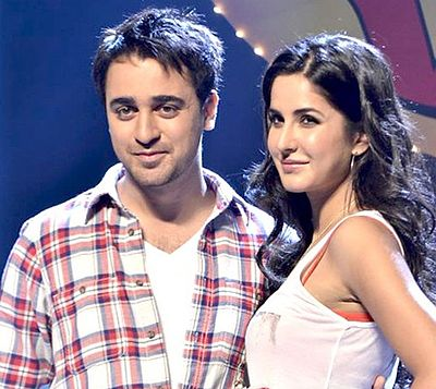 Khan with Katrina Kaif at a promotional event for Mere Brother Ki Dulhan, 2011 - Imran Khan (actor)