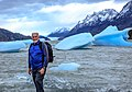 In & around Torres Del Paine Nat'l Park - a short hike amongst the icebergs of Lago Grey (48m asl) - the 'old man of the mountain' - (24559160923).jpg
