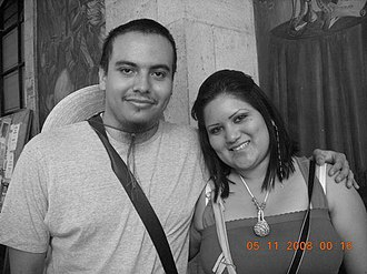 Paipai - Young Mestizo and Paipai couple in Mexico