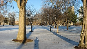 Military Park (Indianapolis) - Image: Indianapolis Military Park in the snow