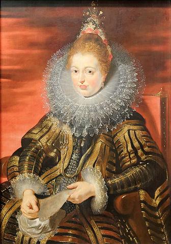Портрет эрцгерцогини Изабеллы Клары Евгении. 1609, масло на дубе, 105×74см. Вена, Музей истории искусств