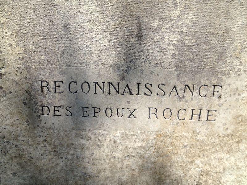 Inscription - croix de la nouvelle mairie à Béligneux
