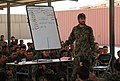 Instructor lectures Afghan National Army trainees about squad attack skills in Basic Warrior Training at Regional Military Training Center, Kandahar.jpg