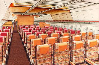 LTU International - Interior design of LTU's Lockheed TriStar.