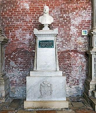 Johann Gabriel Chasteler de Courcelles - His tomb in Venice.