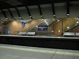 International Airport railway station, Sydney - International Airport station in 2007