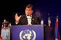 Intervención del Presidente del Ecuador Rafael Correa en la Cumbre Rio +20 (7414354770).jpg