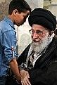 Iran Supreme Leader Ali Khamenei meets Modafean Haram families 12.jpg