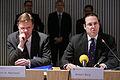 Islands finansminister Arni M. Mathiesen tillsammans med Sveriges finansminister Anders Borg vid Nordiska Radets session i Helsingfors 2008-10-28.jpg