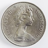 Obverse: Effigy of Queen Elizabeth II