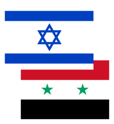 Israel-Syria flages.png