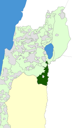 Israel Map - Valley of Springs Regional Council Zoomin.svg