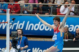 2014 IAAF World Indoor Championships – Men's high jump - Ivan Ukhov finished second in the final.